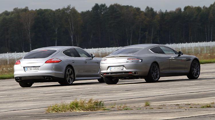 Kampf Der Giganten Porsche Panamera Vs Aston Martin Rapide N Tv De