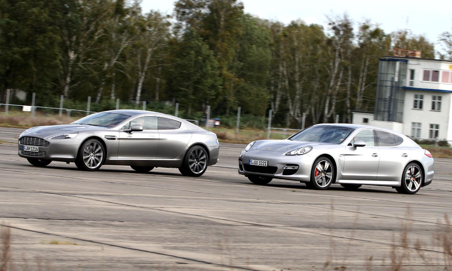 Kampf Der Edelmonster Porsche Panamera Vs Aston Martin Rapide N Tv De