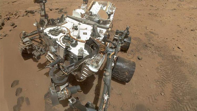 Marsrover «Curiosity» auf dem Roten Planeten. Foto: NASA/JPL-Caltech/Malin Space Science Systems