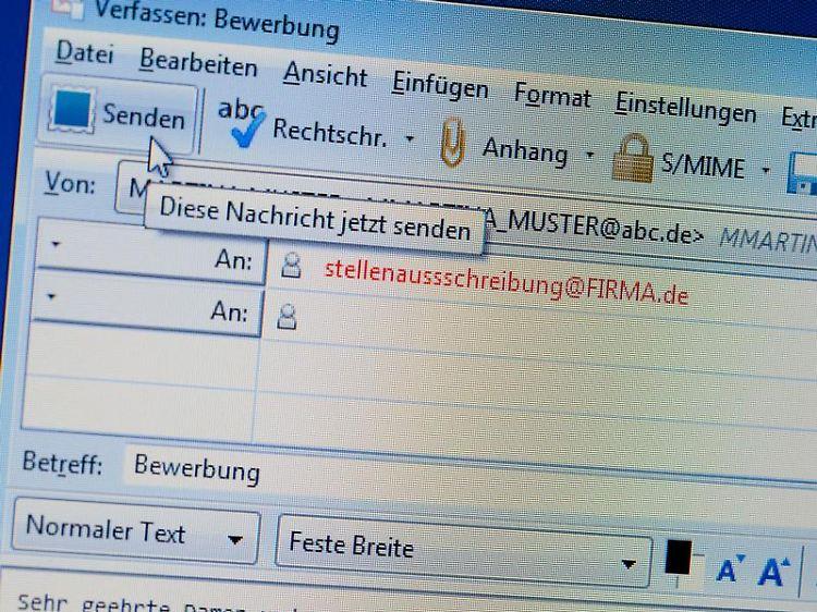 Zu Groß Zu Bunt Zu Chaotisch Tabus Bei E Mail Bewerbungen N Tvde
