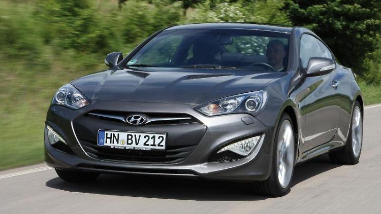 Frischere Optik, stärkere Motoren:Hyundai hat das Genesis Coupé überarbeitet. Foto: Hyundai