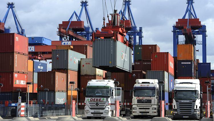 Die Exporte in das außereuropäische Ausland liefen im April besonders gut.