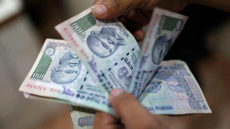 Die indische Rupie stabilisiert sich.