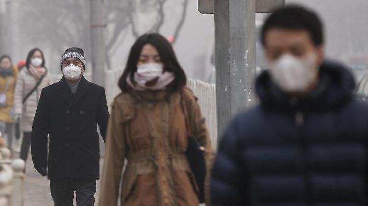 Smog in Peking: Die Luftverschmutzung gilt als einer der Gründe für den Einbruch im Tourismus. Foto: Rolex Dela Pena