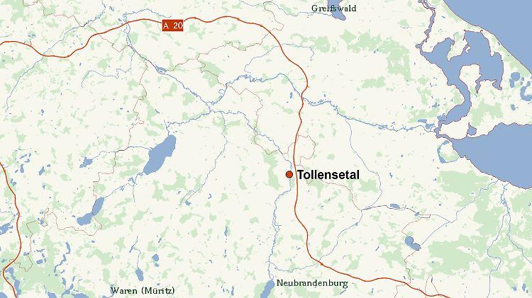 Tollensetal Karte