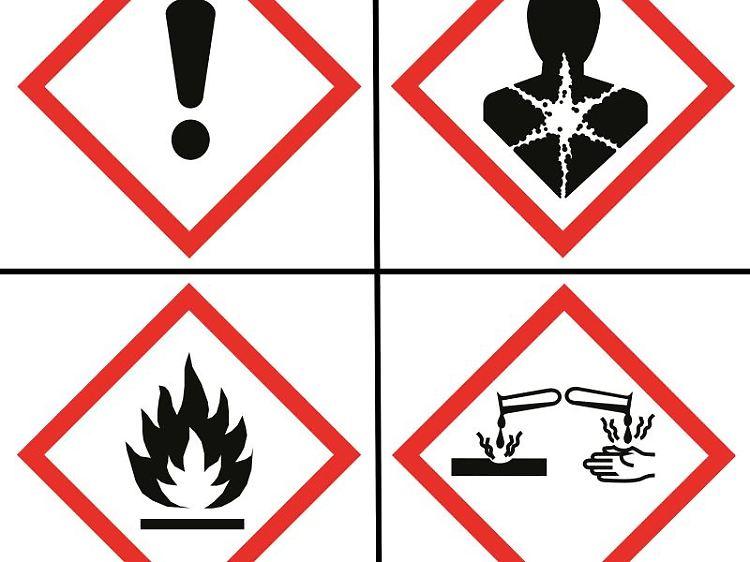 7c1968fe35810 Spätestens bis Juni 2015 müssen die Hersteller von Reinigungsprodukten mit  gefährlichen Inhaltsstoffen auf diese Piktogramme umstellen