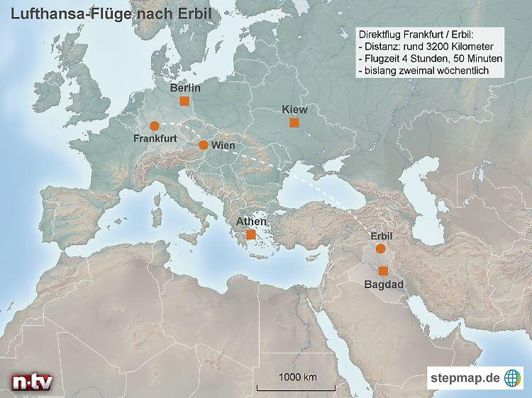 Flugrouten Karte Weltweit Lufthansa.Keine Fluge Mehr Nach Erbil Lufthansa Umfliegt Den Irak N