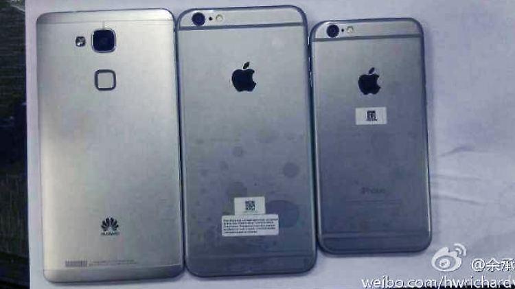 Ascend Mate 7 iPhone 6 Plus iPhone 6.jpg