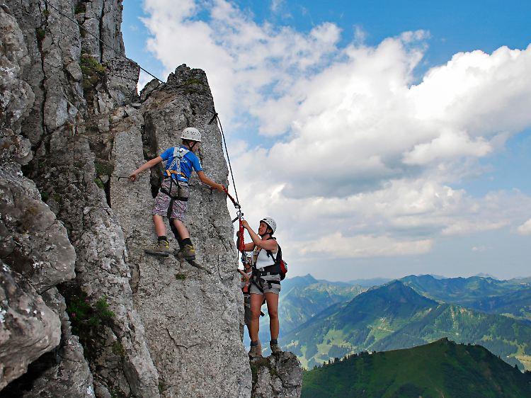 Mindelheimer Klettersteig Unfall : Gesicherter nervenkitzel klettersteige immer beliebter n tv