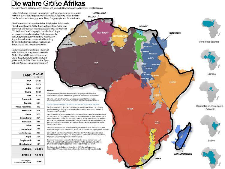 Flache Erde Karte Kaufen.Karten Verzerren Die Realitat So Gross Ist Afrika Wirklich