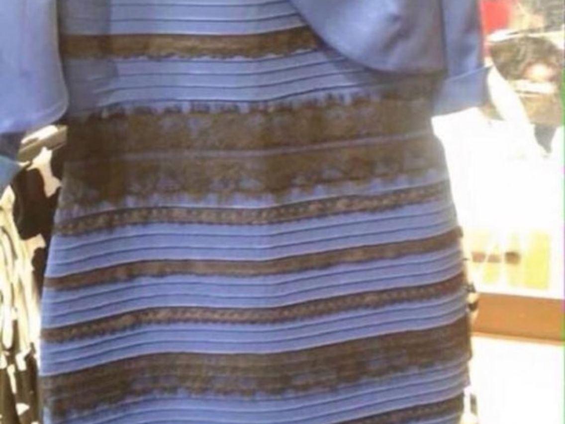 weiß-gold oder blau-schwarz?: dieses kleid macht die welt