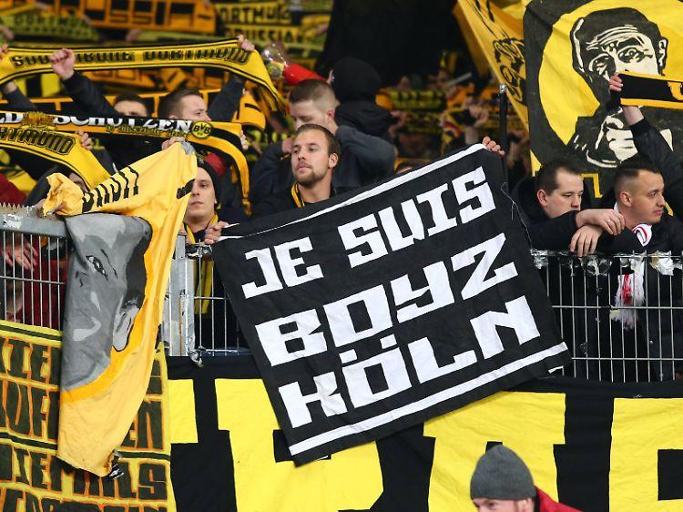 Vor Revierderby in Dortmund: Mitglieder der Kölner Boyz ...