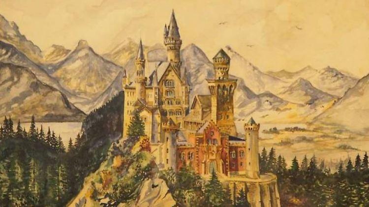 Bild Von Neuschwanstein Hitler Aquarelle Werden Versteigert N Tv De