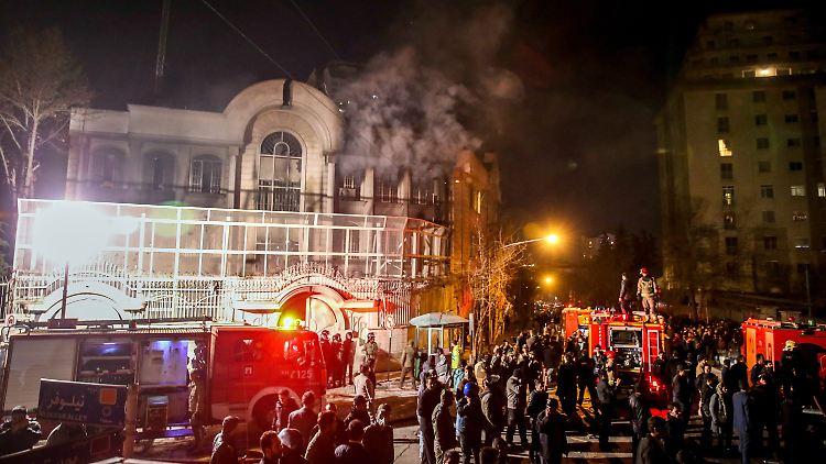 Teheran, saudische Botschaft