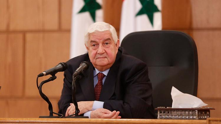 Der syrische Außenminister Walid al-Muallim hat für die internationale Militärkoalition eine eindeutige Botschaft parat.