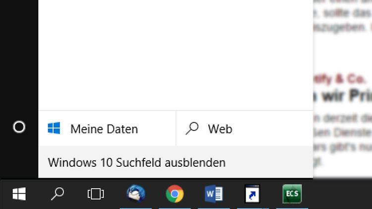 windows 10 startmenü suche fehlt