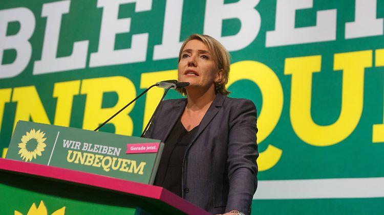 Simone Peter, Bundesvorsitzende der Partei Bündnis 90/Die Grünen, auf dem Bundesparteitag in Münster.