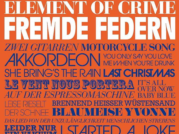 Weihnachtslieder Verarschung.Wenn Schon Doof Dann Richtig Element Of Crime Gehen Fremd N Tv De