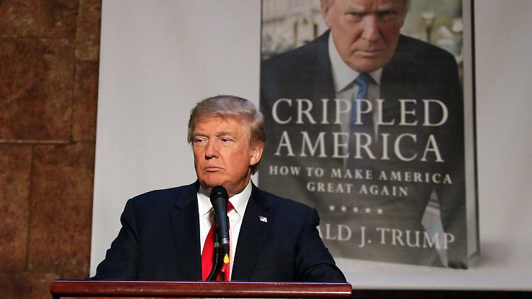 Nov. 3, 2015 - New York, New York, U.S. - Republican Presidential candidate DONALD TRUMP attends a press conference where he promoted his new book Crippled America: How to Make America Great Again held at Trump Tower. New York U.S. PUBLICATIONxINxGERxSUIxAUTxONLY - ZUMAk03_  Nov 3 2015 New York New York U S Republican Presidential Candidate Donald Trump Attends a Press Conference Where he promoted His New Book crippled America How to Make America Great Again Hero AT Trump Tower New York U S PUBLICATIONxINxGERxSUIxAUTxONLY ZUMAk03_