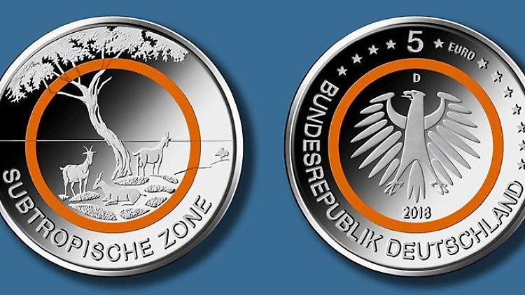 Nächste Fünf Euro Münze Die Subtropische Zone Kommt 2018 N Tvde