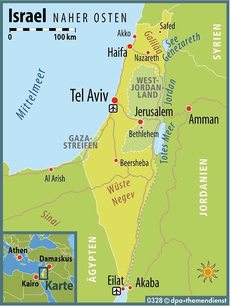 Israel Karte.Mit Bus Und Sammeltaxi Durch Israel Ohne Gruppe Im Heiligen Land