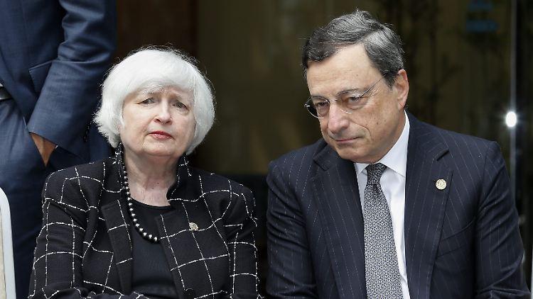 Von der Vorsitzenden der US-Notenbank Janet Yellen und EZB-Präsident Mario Draghi werden auf der Zentralbankkonferenz in Jackson Hole geldpolitische Entscheidungen erwartet.