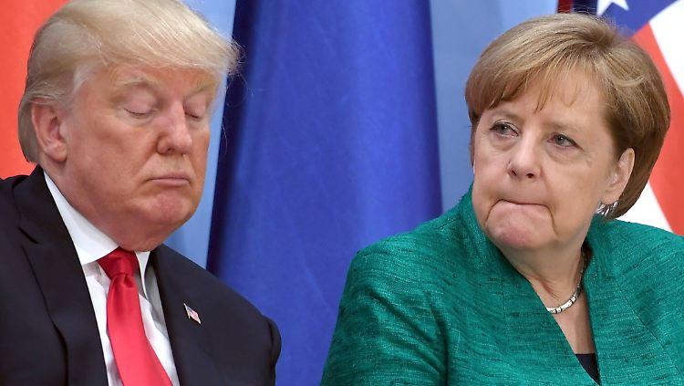 Merkel Trump Telefonat