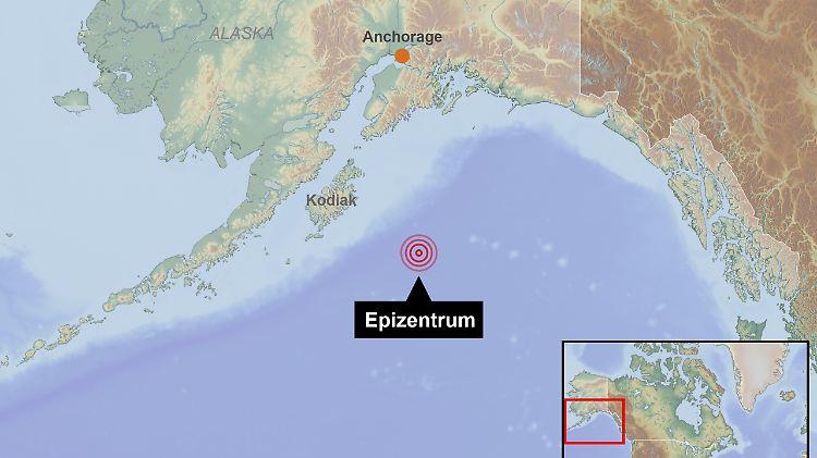 Golf Von Alaska Karte.Schwere Erdstosse Im Pazifik Behorden Geben Tsunami