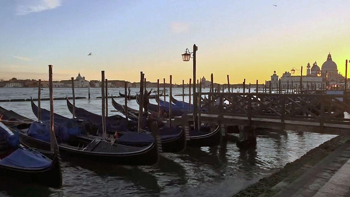 Empfindliches Okosystem Roboter Scannen Verschmutzte Lagune Von Venedig