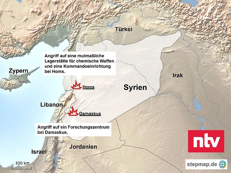 Syrien Karte Mit Städten.Luftschläge Gegen Syrien Alles Was Man Zum Angriff Wissen Muss N