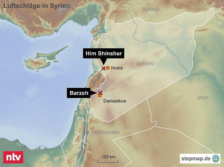 Karte Syrien Irak.Militarschlag Gegen Syrien Us Koalition Feuert Raketen Auf