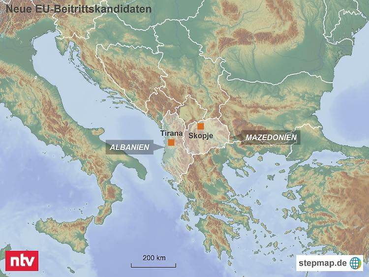 Grüne Karte Mazedonien.Albanien Und Mazedonien Eu Empfiehlt Beitrittsverhandlungen N Tv De