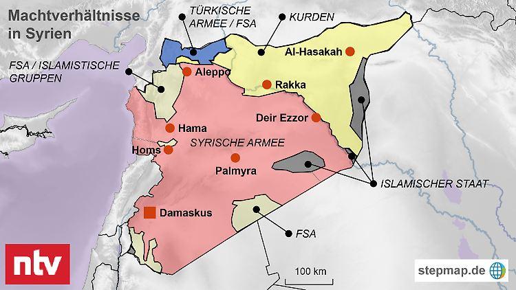 Syrien Karte Mit Städten.Is Miliz Zieht Ab Assad Regime Erklärt Damaskus Für Sicher N Tv De