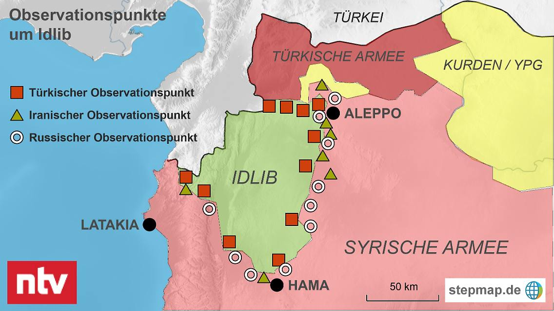 Syrien Karte Aktuell 2018.Ist Idlib Erst Der Anfang Grossmachte Ziehen Grenzen In