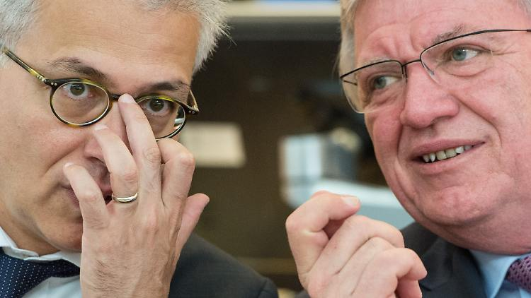 Ob Tarek Al Wazir und Volker Bouffier nach den Landtagswahlen am 28. Oktober weiter gemeinsam regieren werden, ist noch unklar.