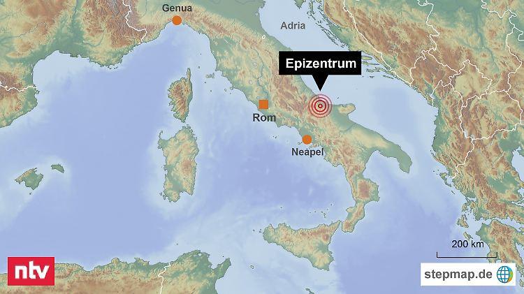 Erdbeben Italien Heute Karte