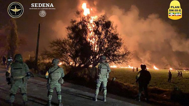 Mexiko: Mindestens 66 Tote bei Explosion einer Benzinleitung