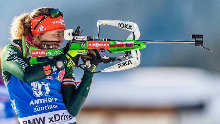 Zurück In Biathlon Weltspitze Dahlmeier Stürmt Antholz Podest