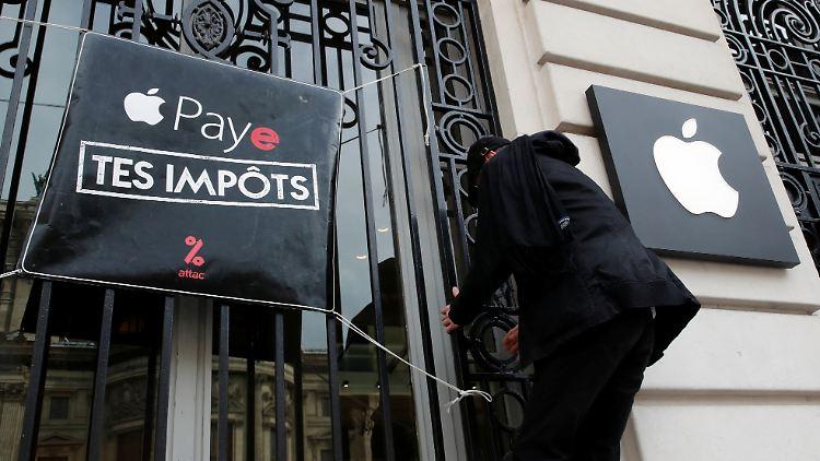 So nimmt sich Frankreich Apple zur Brust Digitalsteuer