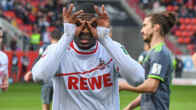 Anthony Modeste brachte den 1.FC Köln per Elfmeter auf die Siegerstraße
