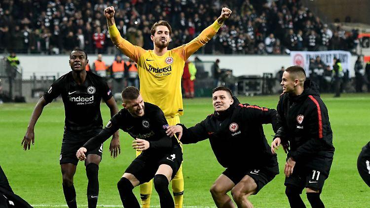 Eintracht Frankfurt will auch gegen Inter Mailand wieder jubeln