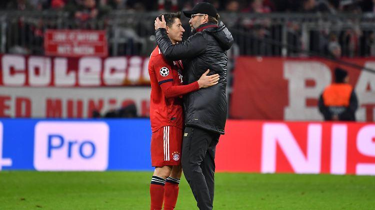 Ginge es nach Franz Beckenbauer, wäre Jürgen Klopp wohl bald nicht nur Tröster, sondern auch Trainer von Robert Lewandowski.