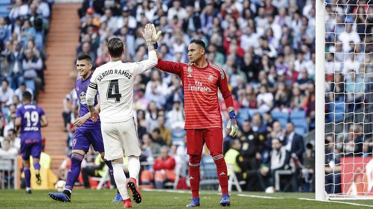 Alles wie früher: Sergio Ramos verteidigte bei der Zidane-Rückkehr vor Keylor Navas.