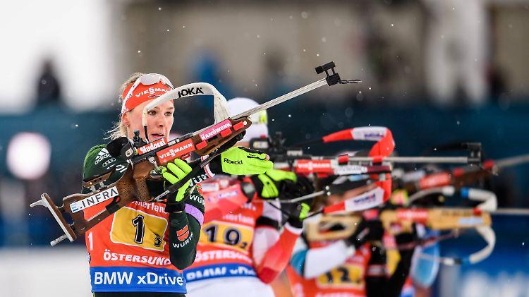 Schwere Bedingungen beim Finale: Biathletin Herrmann holt WM-Bronze