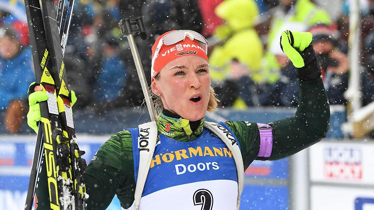Denise Herrmann durfte trotz vier Strafrunden jubeln.