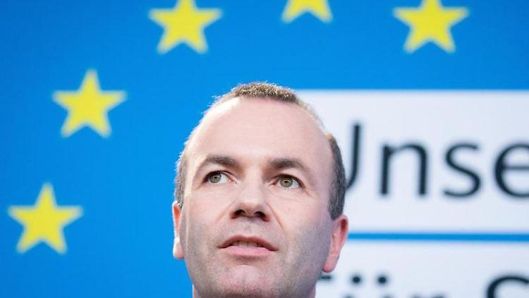 Manfred Weber (CSU), Spitzenkandidat der EVP für die kommende Europawahl.Foto:Kay Nietfeld/Archivbild