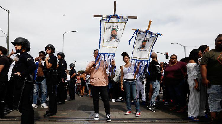 Tausende trauern um Rapper Nipsey Hussle