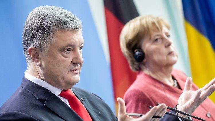 Merkel: Stehen fest an der Seite der Ukraine