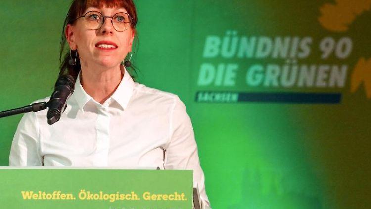 Katja Meier, Beisitzerin des sächsischen Landesvorstandes der Partei Bündnis 90/Die Foto: Peter Endig/Archiv