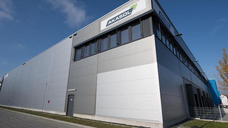 Die Batteriesystemfabrik von Akasol in Langen. Foto: Fabian Sommer/Archiv